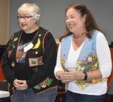 Judi Koffman and Deena Barrett sing a duet